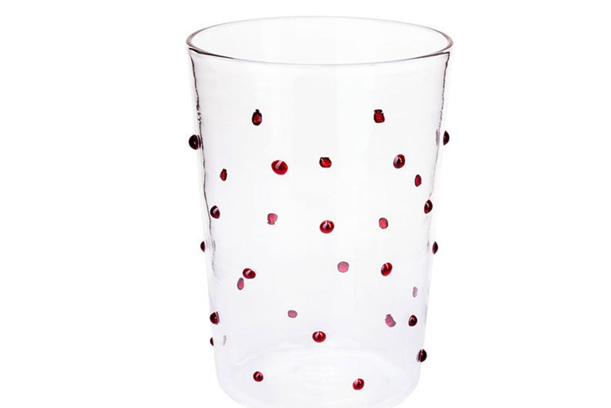 Red Dots Water Glass
