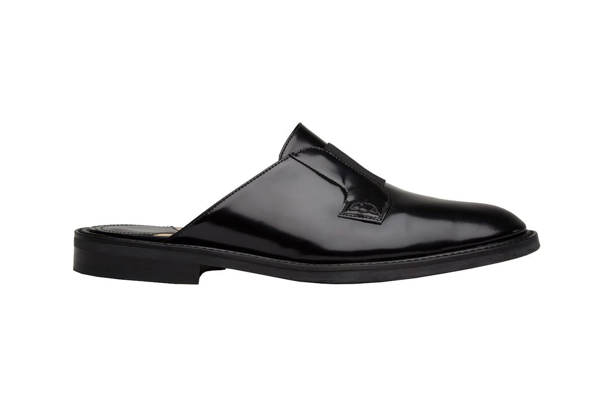 Derby Slide with Band in Spazzalato Leather