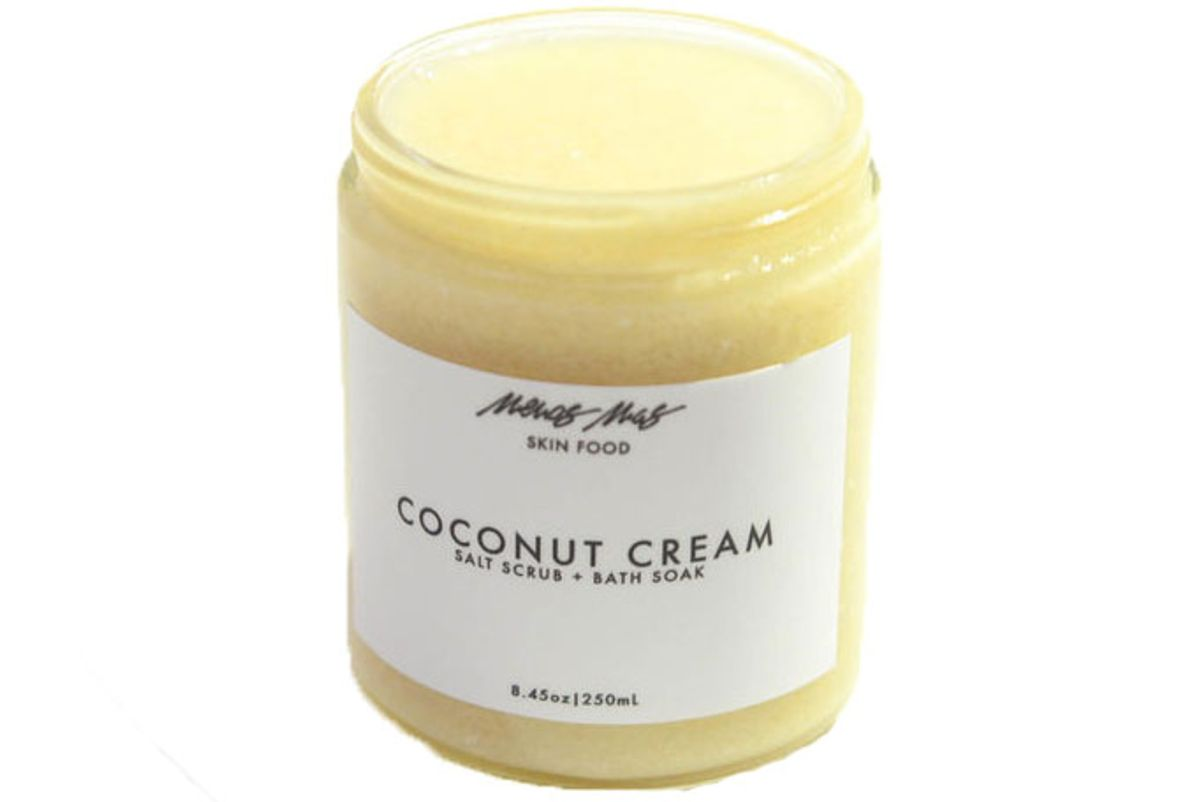 menos coconut cream body scrub bath soak