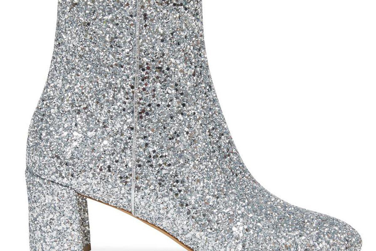 mansur gavriel glitter 65mm ankel boot