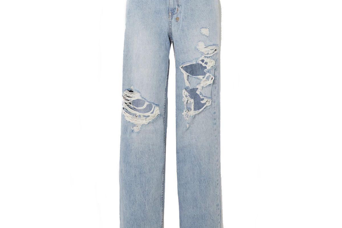 ksubi playback kut up distressed high rise straight leg jeans