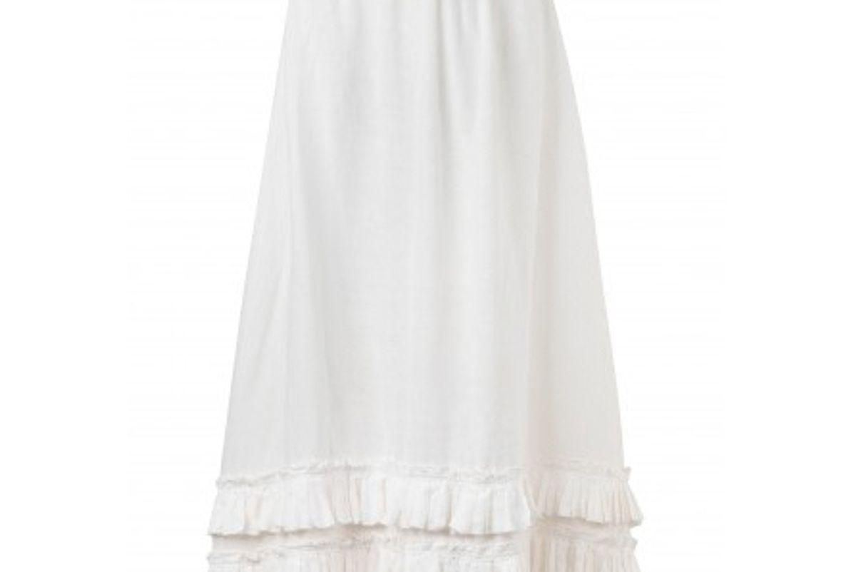 waimari nostalgia pleated linen maxi skirt