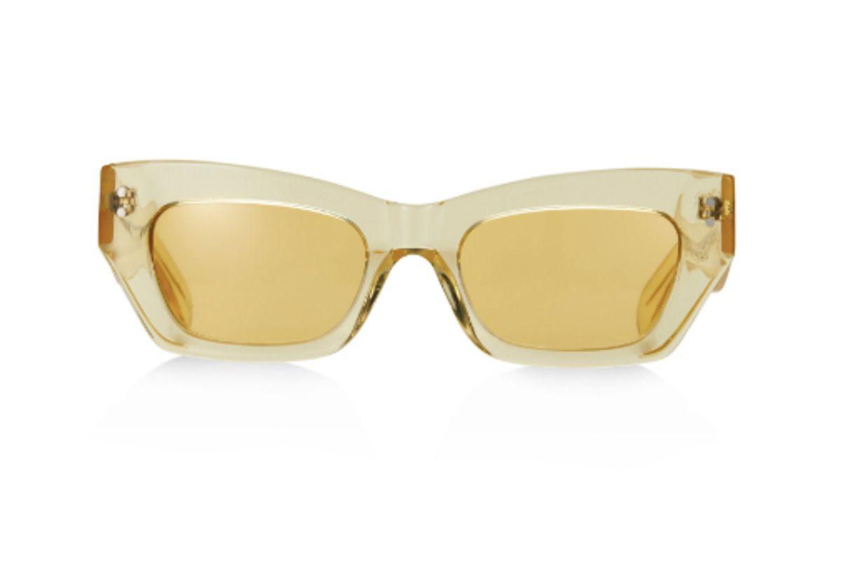 pe nation x pared petite amour yellow sunglasses