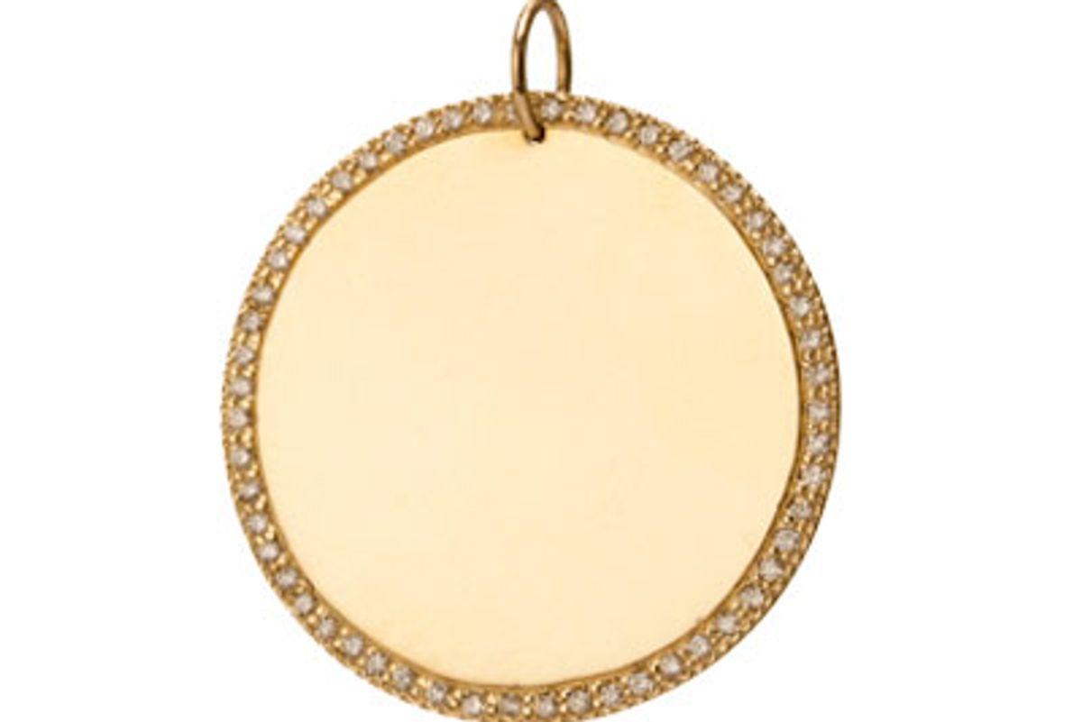 Large Circle with White Diamond Border