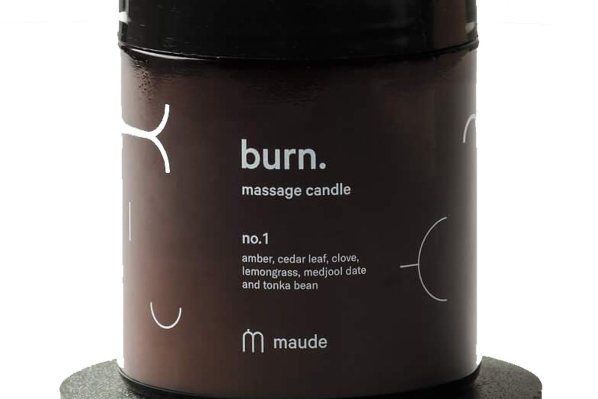 maude burn massage candle