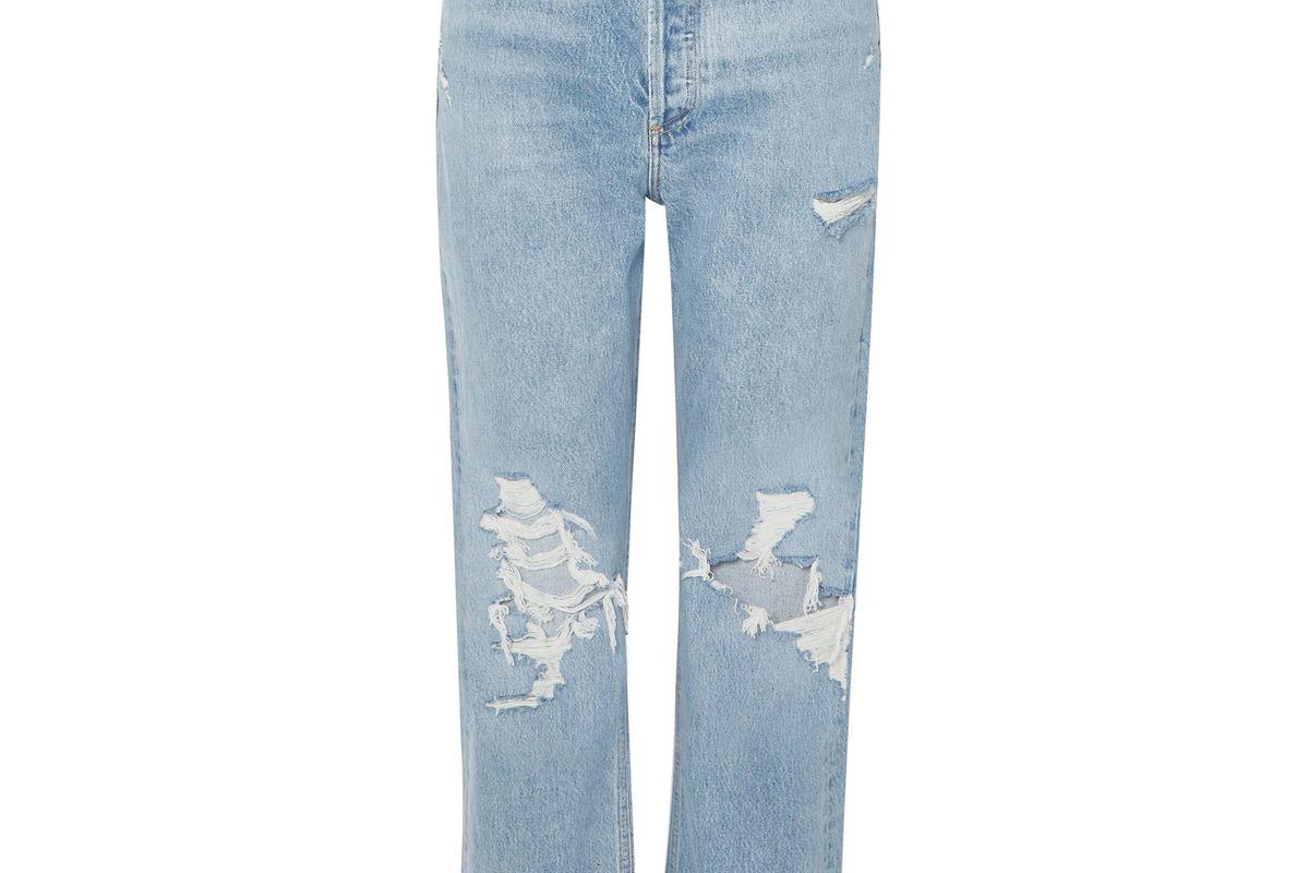 agolde 90s distressed high rise boyfriend jeans