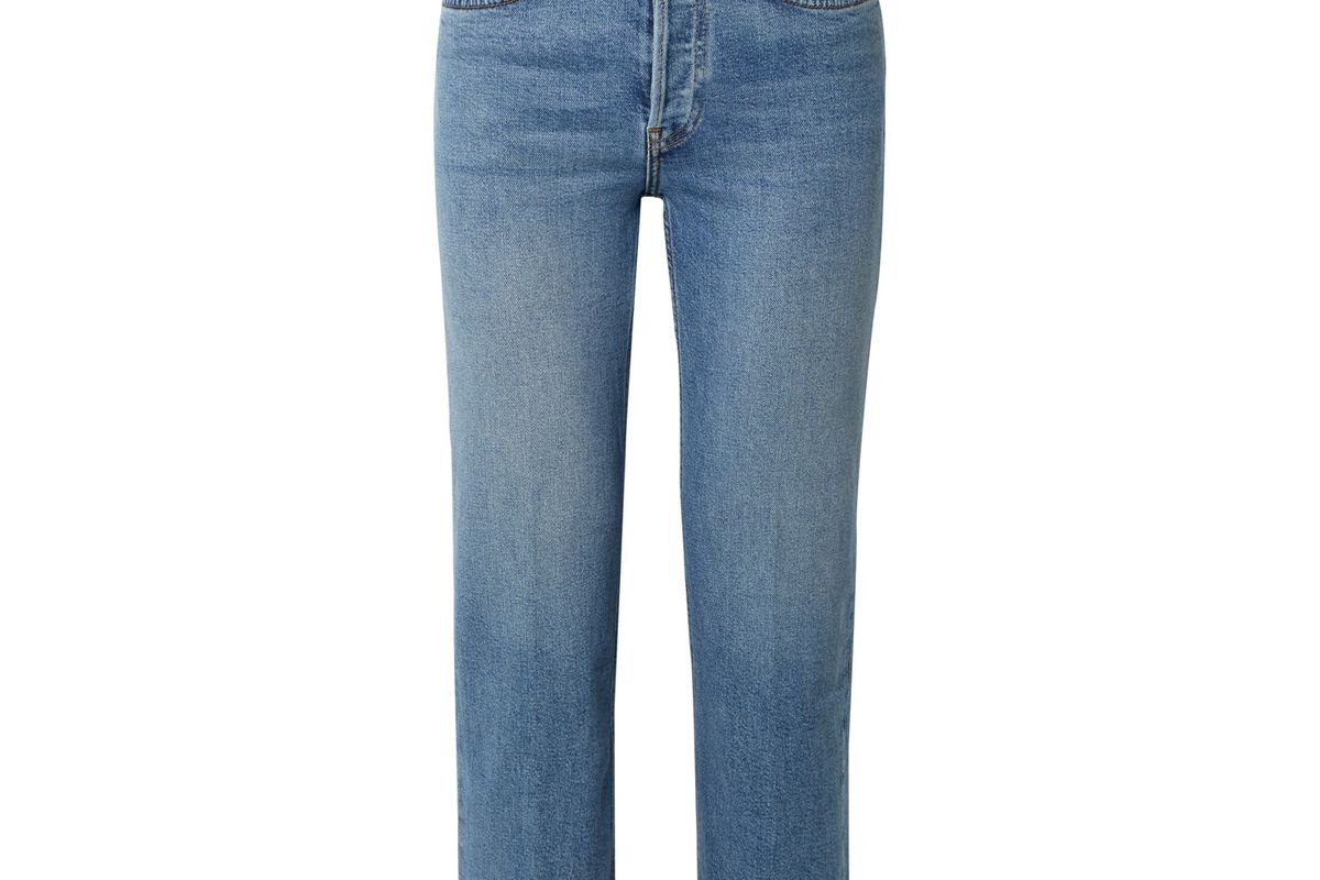 re/done originals stove pipe comfort stretch high rise straight leg jeans