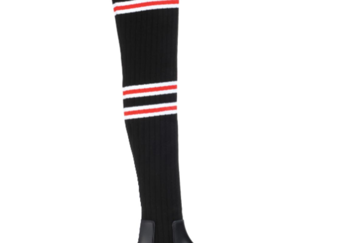 givenchy knitted over the knee boots