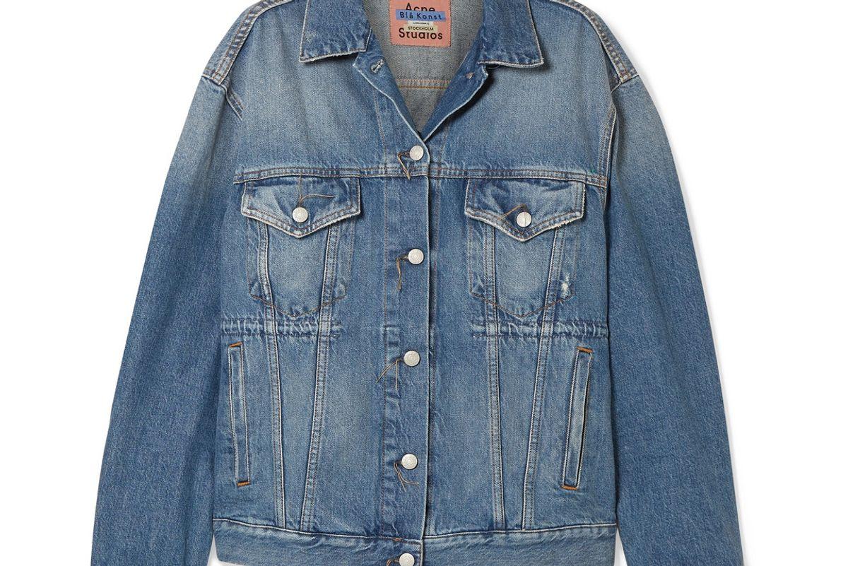 acne studios 2000 oversized denim jacket