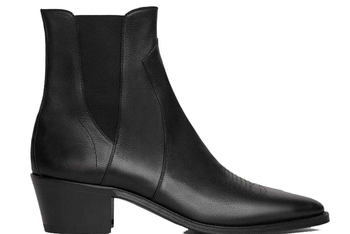 celine camargue western chelsea boots