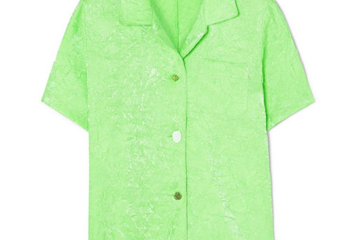 ejina pyo crinkled satin shirt