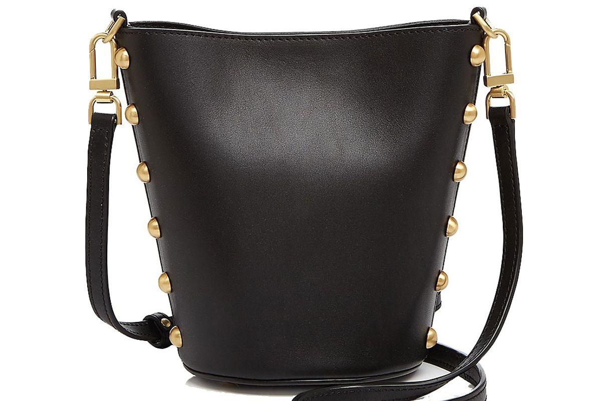 Pierce Stud Structured Leather Bucket Bag