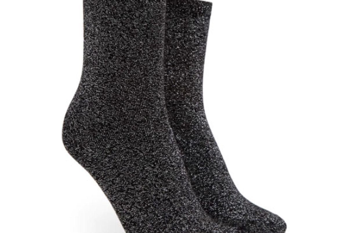 Glitter Knit Crew Socks