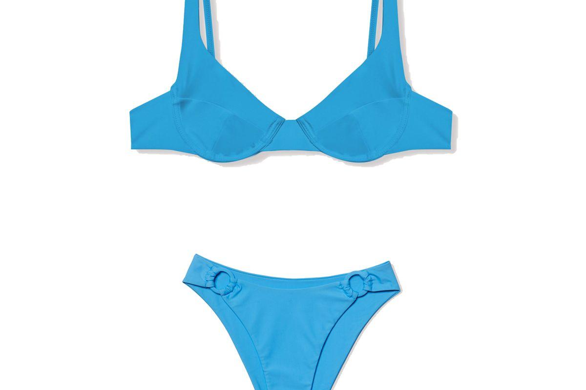 ookioh blue como top and monaco bottom