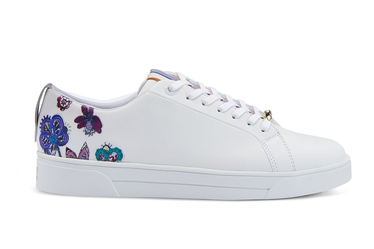 ted baker eritka embroidered sneakers