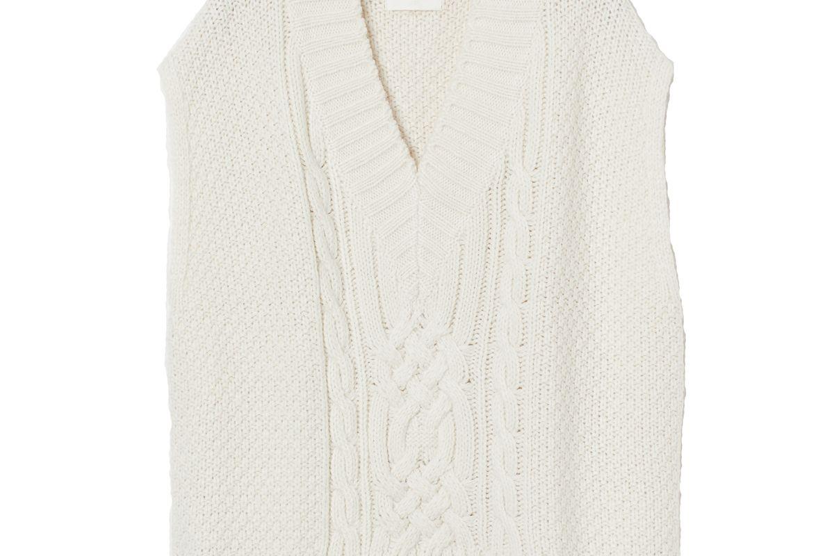 h&m cable knit sweater vest