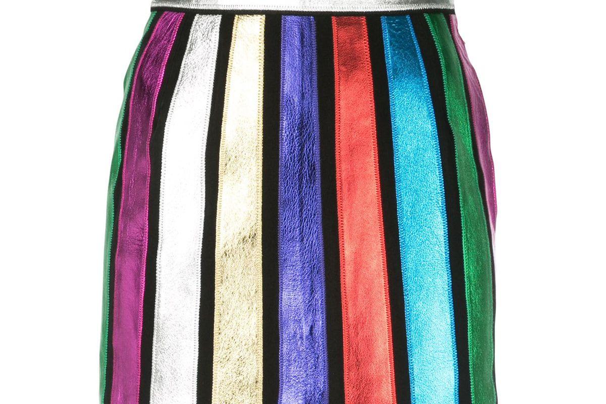 attico striped mini skirt