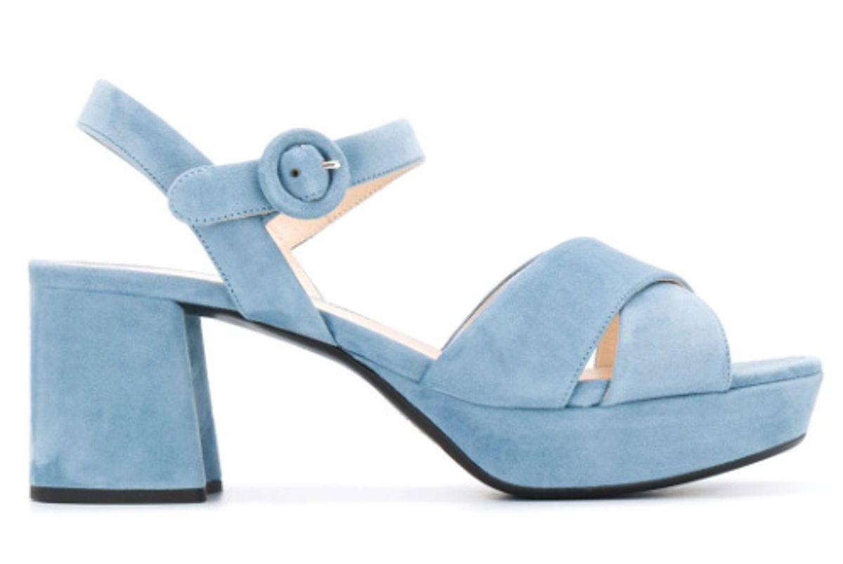 prada platform 65mm suede sandals