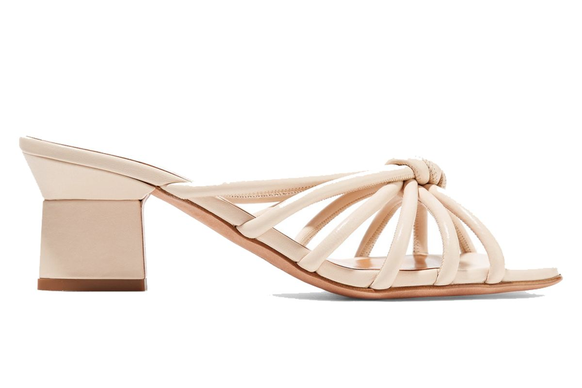 rosetta getty knotted leather mules