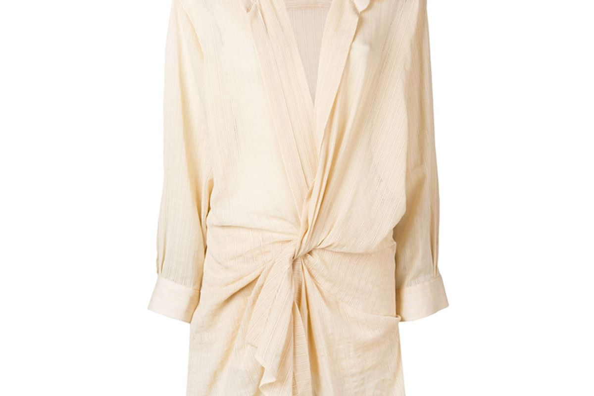 jacquemus alassio draped shirt dress