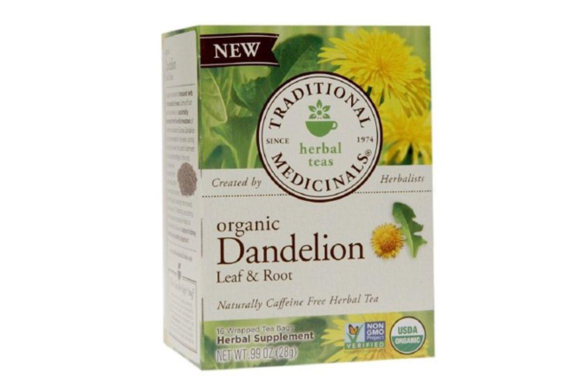 traditional medicinals dandelion leaf and root herbal tea