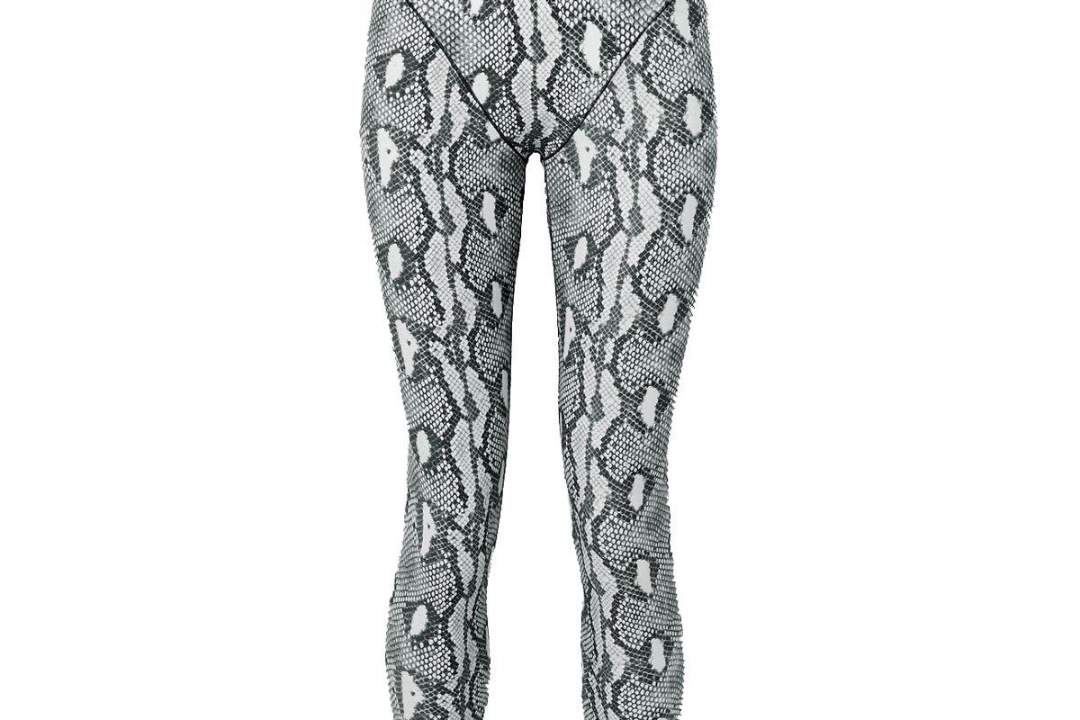 adam selman sport snake print stretch leggings