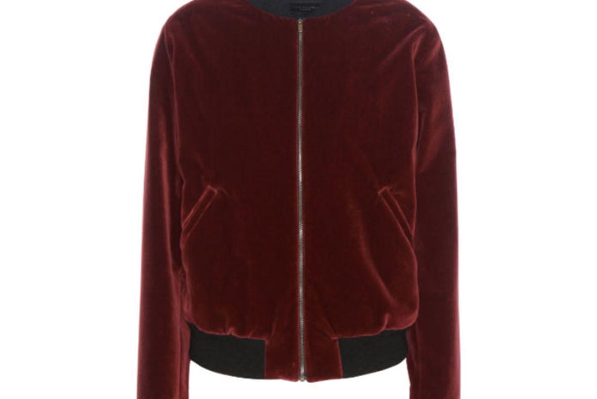 Embellished Velvet Bomber Jacket