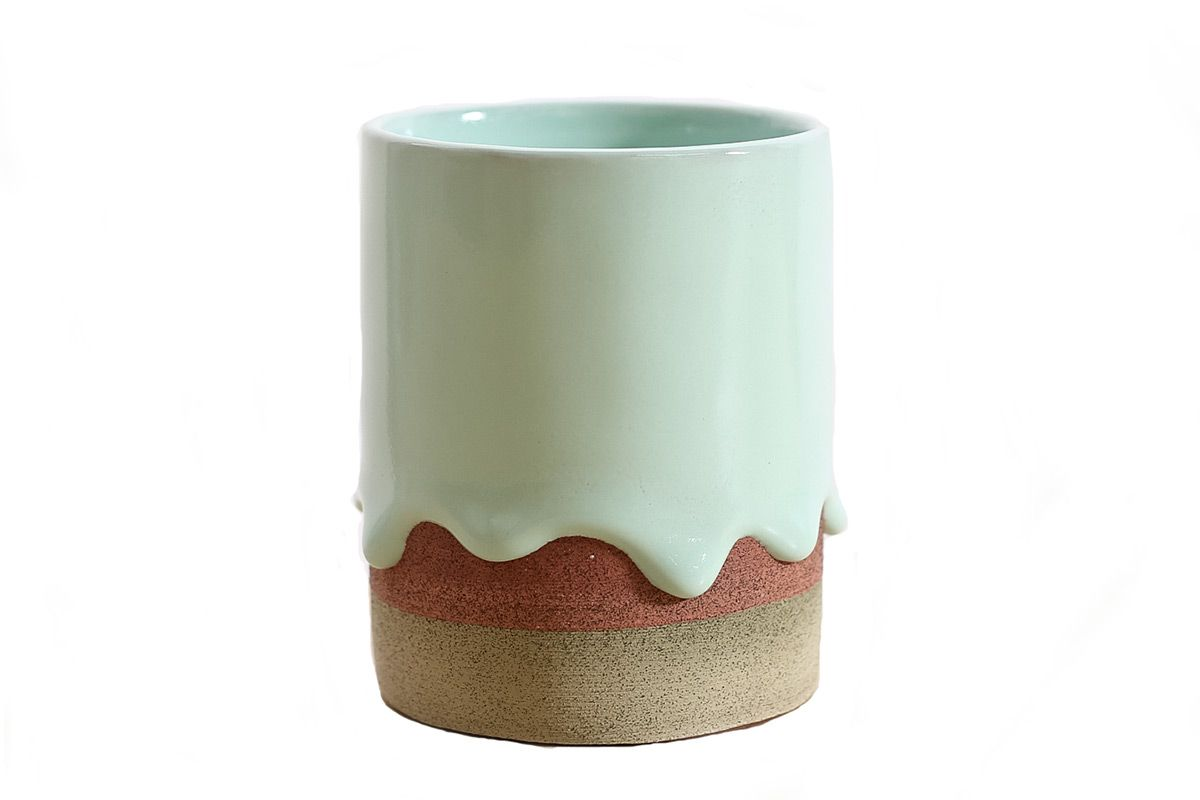 Mint/Stripe Cup