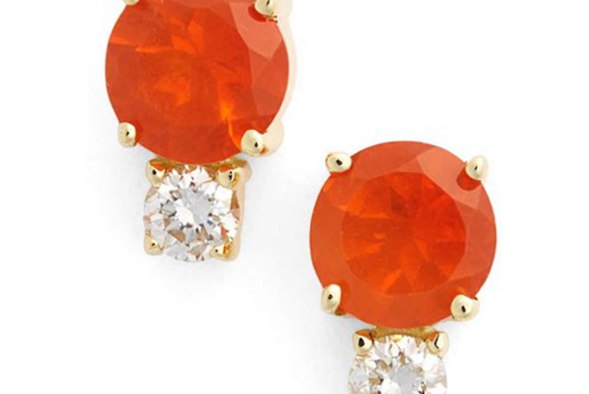 jemma wynne fire opal and diamond studs