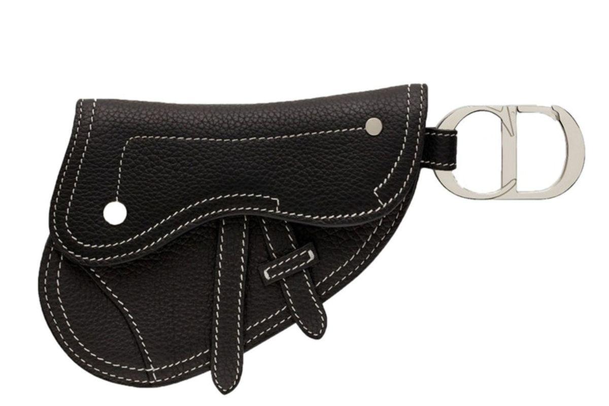 dior saddle key ring