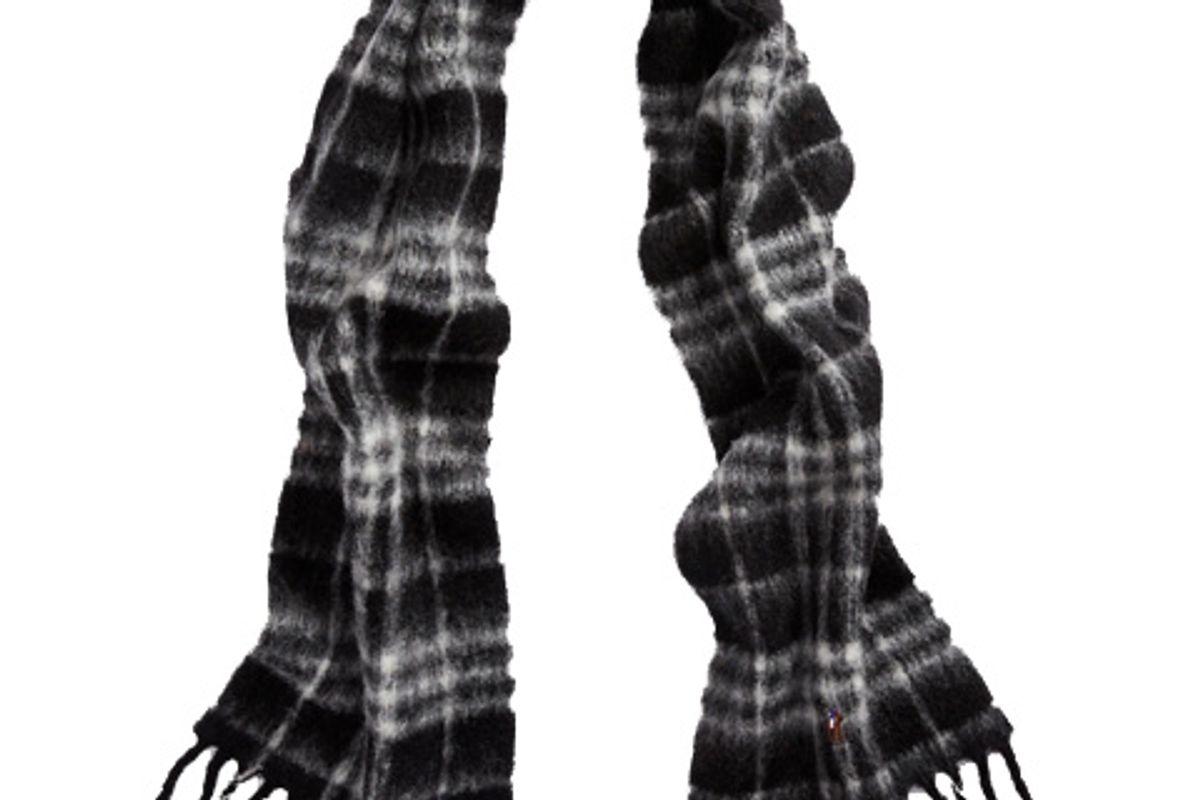 polo ralph lauren plaid alpaca blend scarf