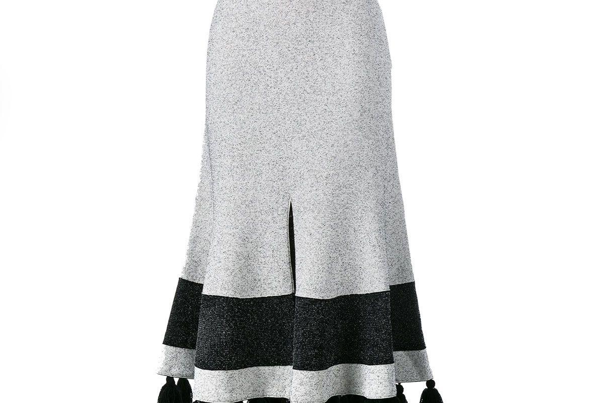 Flared Tasseled Skirt