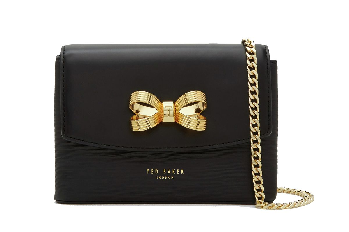 Leorr Looped Bow Leather Cross Body Bag