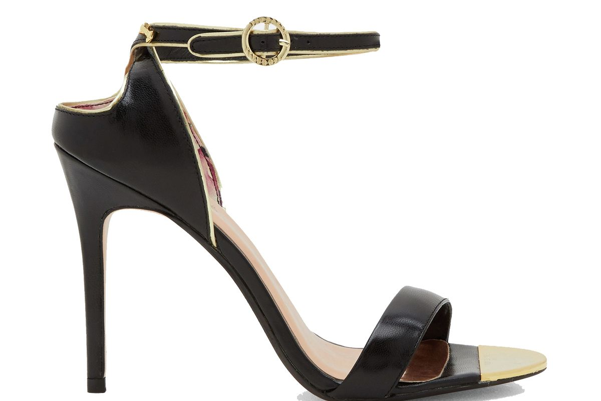 Mirobel Cut-Out Back Suede Heeled Sandals