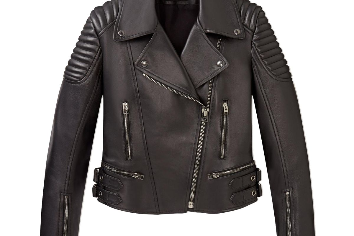 tom ford classic fitted leather biker jacket