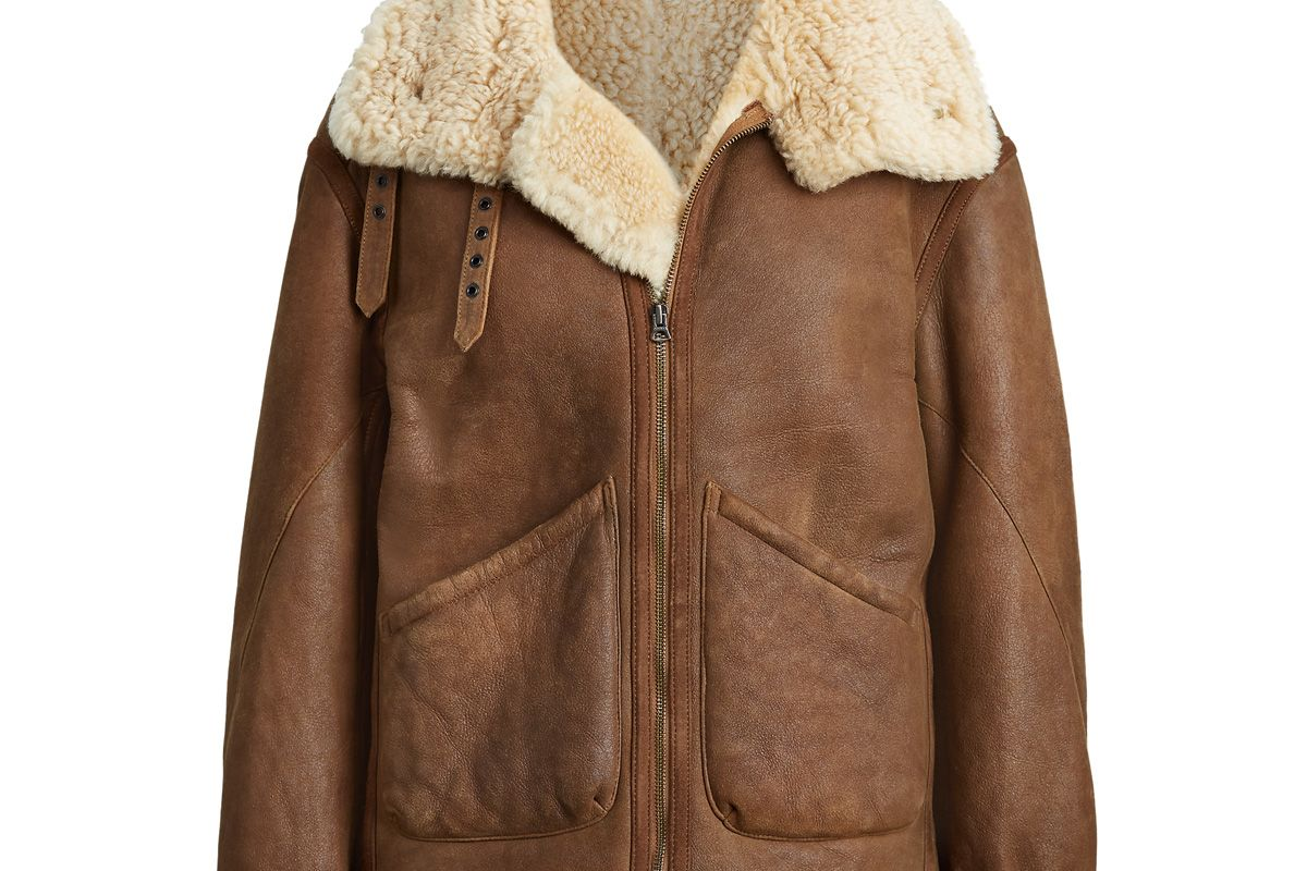 polo ralph lauren shearling leather jacket