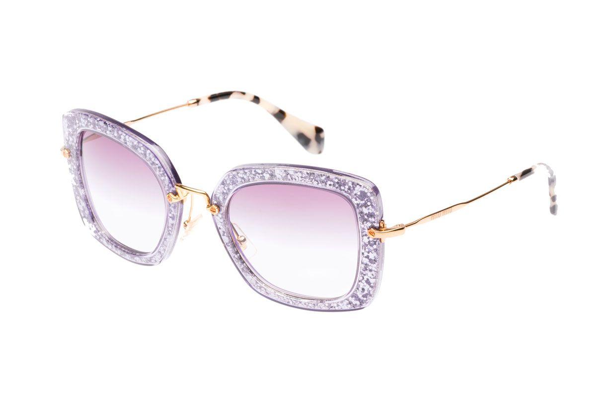 Noir Sunglasses in Purple Glitter