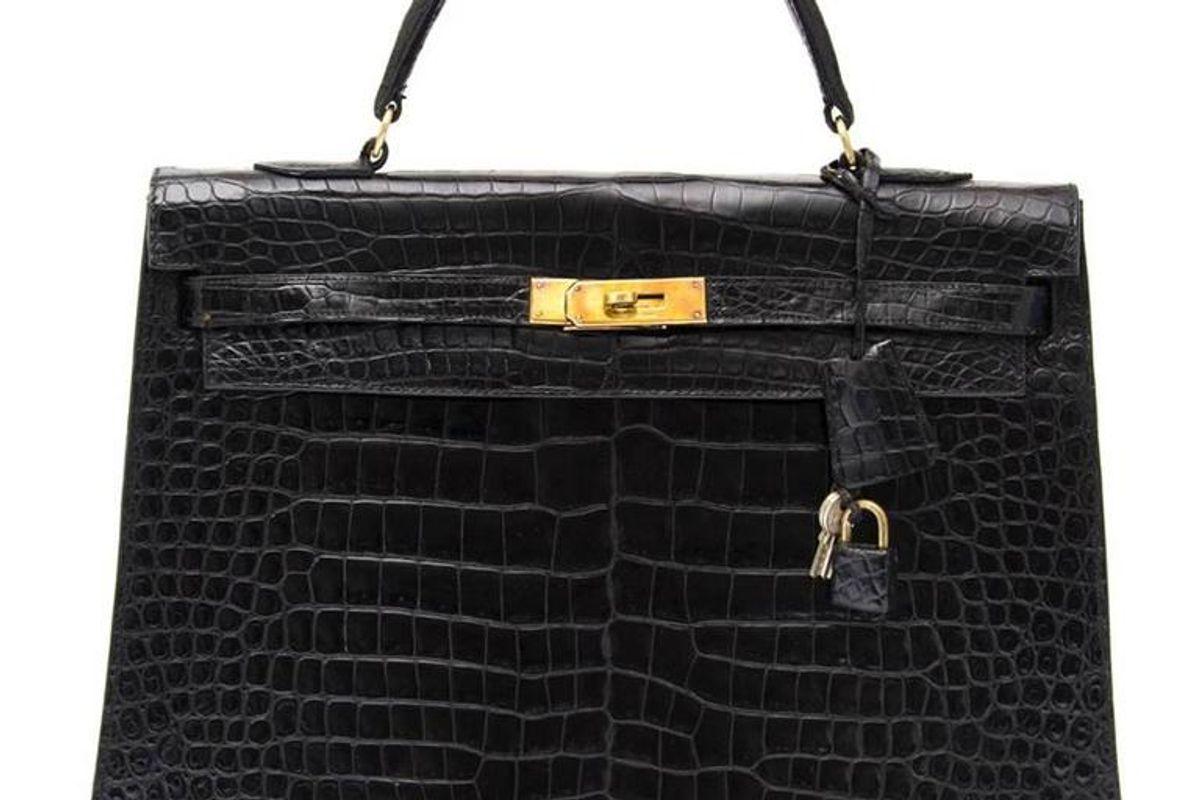 hermes kelly 35 black crocodile