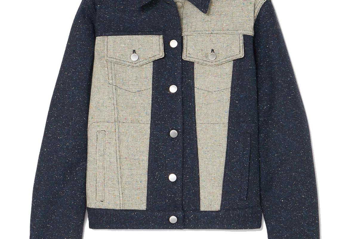 jw anderson paneled boucle jacket