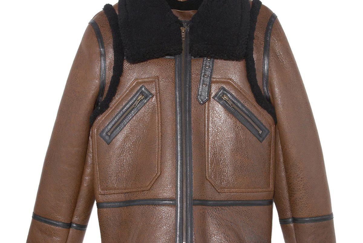 pologeorgis the baldwin shearling aviator jacket