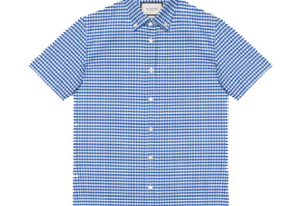 Checked Cotton Short Sleeve Duke Shirt