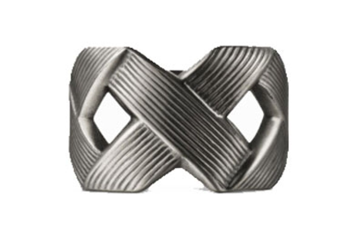 Ring with Crisscross Design