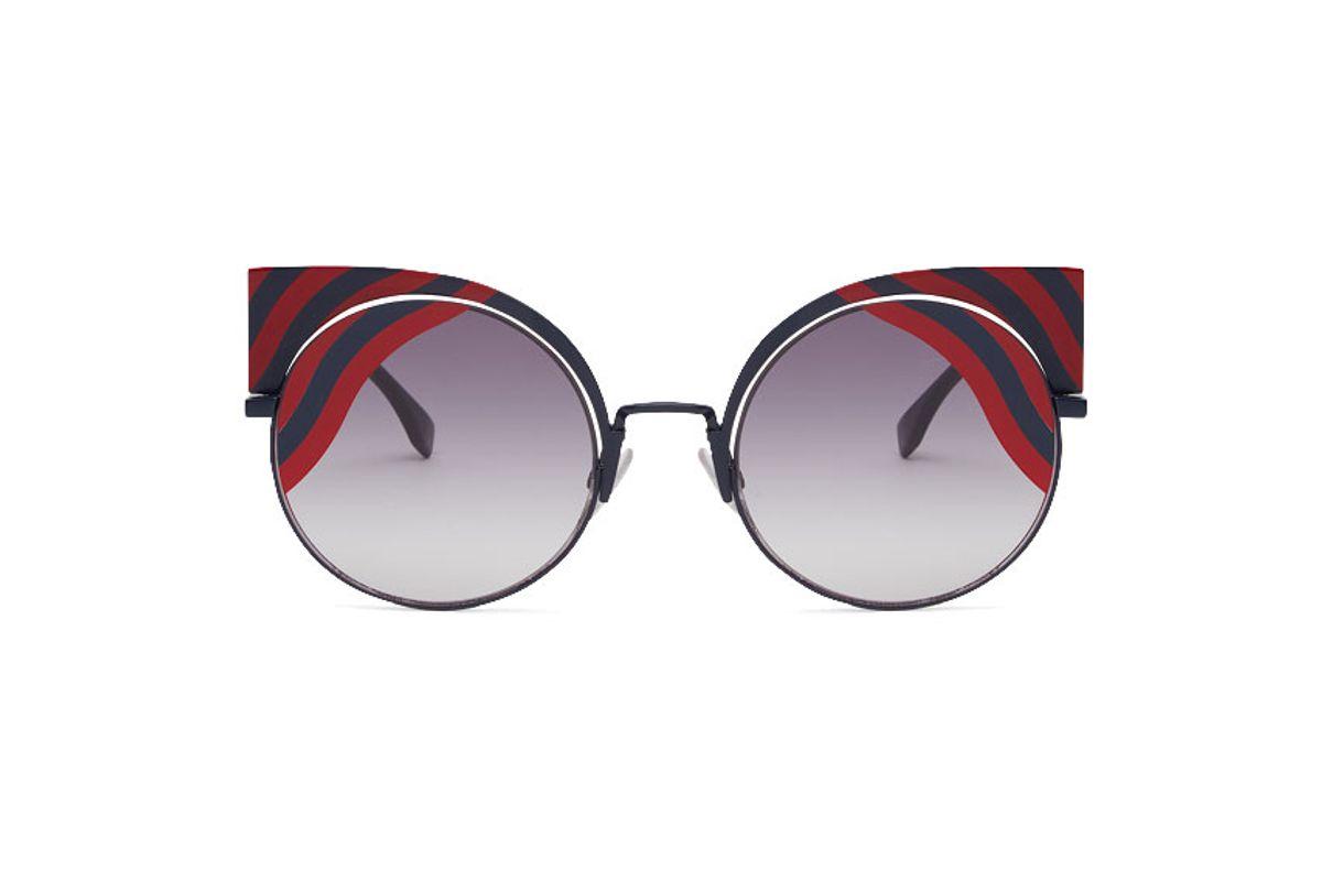 Hypnoshine Fashion Show Dark Blue Metal Sunglasses