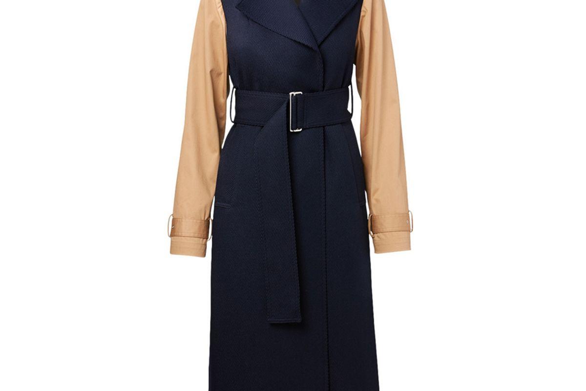 victoria beckham wool long coat