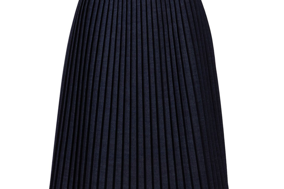 mm6 maison margiela cotton blend pleated skirt