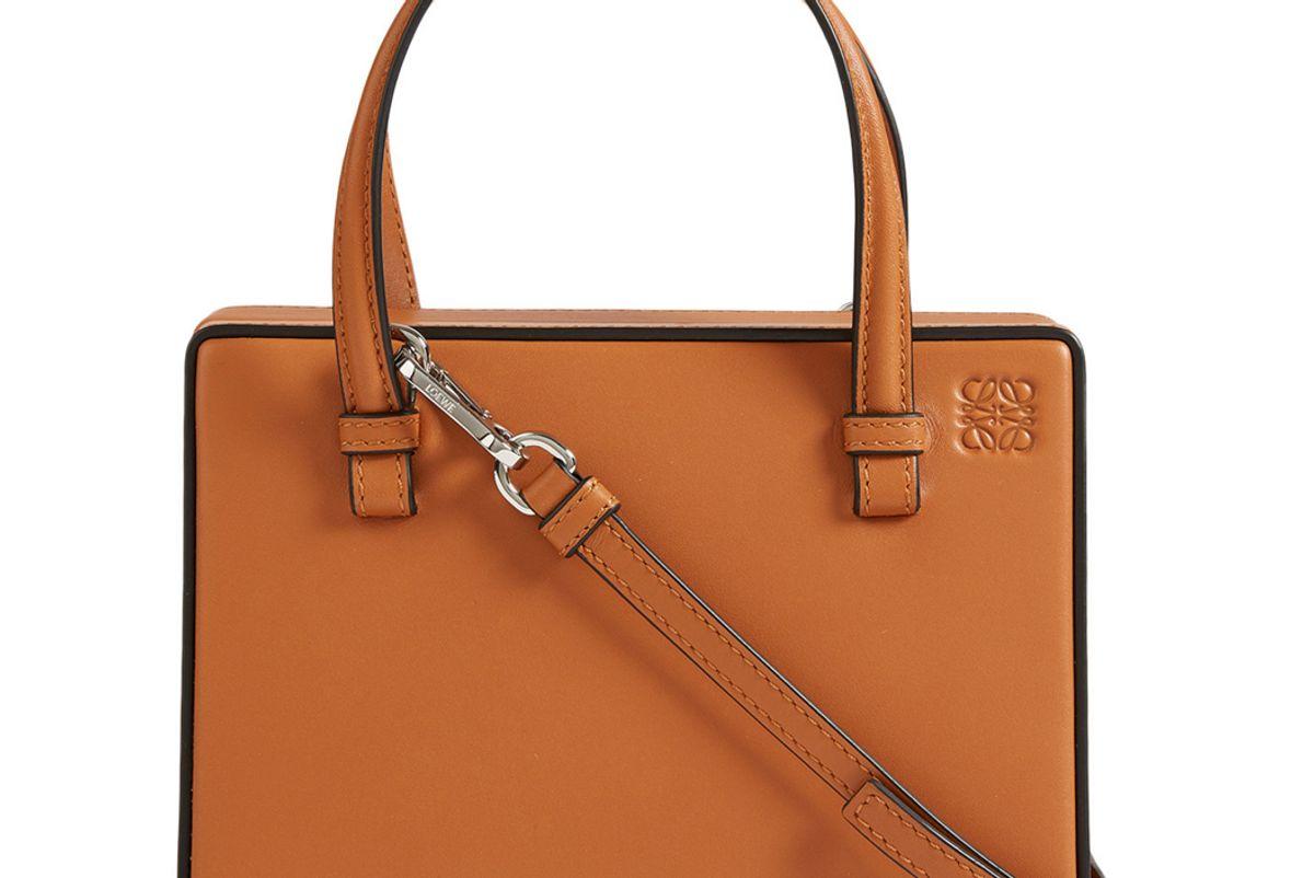 loewe small postal leather bag