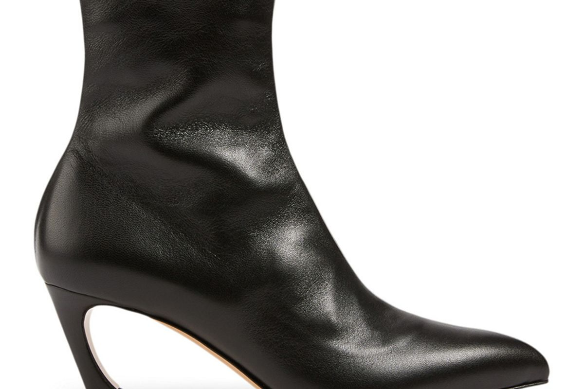 acne studios bilbo leather heeled ankle boots