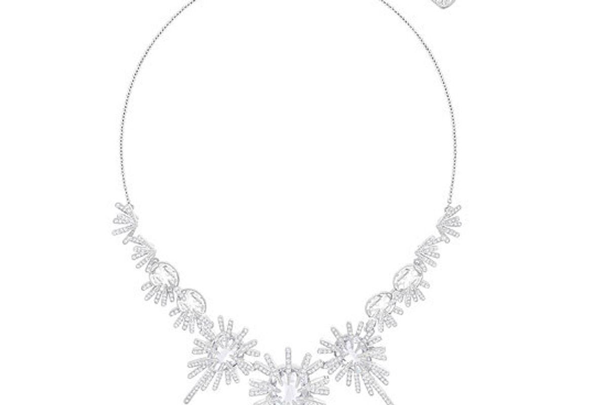 Hippy Necklace, White, Rhodium Plating