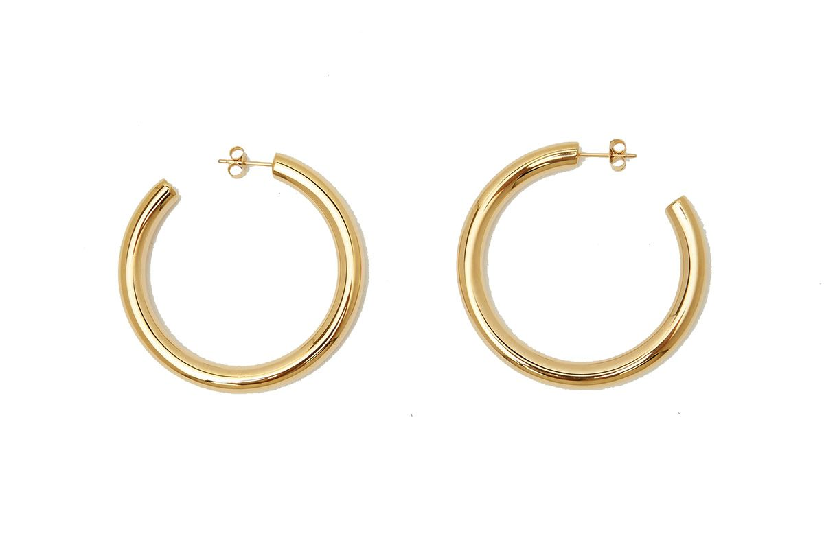 Gold Hollow Hoops