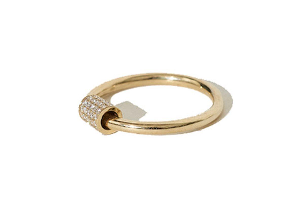 Venn Ring with Pavé